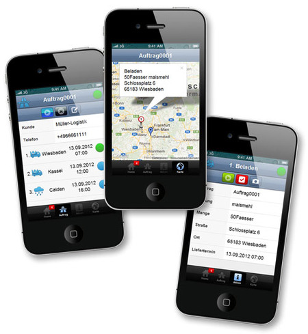 Manage orders easily by smart phone